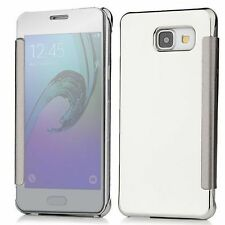 New Luxury Smart Clear View Mirror Flip Cover Case for Samsung Galaxy Note 4 slv