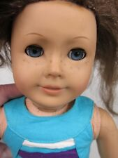 American Girl Doll 2013 Reddish Brown Hair Blue Eyes Freckles Pierced Ears READ