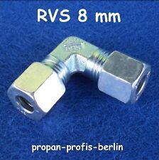 Schneidringverschraubung W 8 mm Ermeto für Gasrohr Winkel-Rohrverschraubung