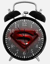 "Superman Super Man Alarm Desk Clock 3.75"" Home or Office Decor W223 Nice Gift"