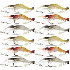 Lote Suave Cebo de pesca de camarones LANGOSTINO Luminoso 8.5cm 6g Silicona Señuelos agua salada