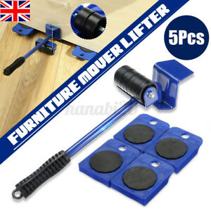 5X Heavy Furniture Shifter Lifter Wheel Moving Set Table Sofa Slider Easy Mover