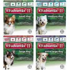 Bayer K9 Advantix Ii Topical For Dog Flea & Tick Treatment, All Pack - Free Ship