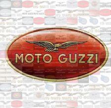 MOTO GUZZI photo mosaic cm. 30x41 poster hundreds pics of GUZZI LOGOS