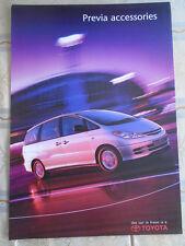 Toyota Previa Accessories range brochure Jun 2000