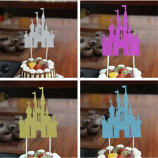 castle cupcake cake topper creative cake flags birthday decor party supplies FO