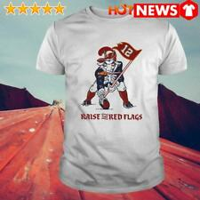 Classic White Shirt For Men And Woman Tom Brady Goat Raise The Red Flags Shirt