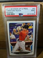 2013 Bowman Christian Yelich Rookie Rc #40 PSA 9 Mint Prospects