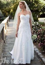 David's Bridal Unaltered Strapless Sweetheart Wedding Dress Gown WG3103 Sz 10