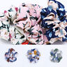 1×Fashion Summer Floral Hair Scrunchies Bun Ring Elastic Sports Dance Scrunchie