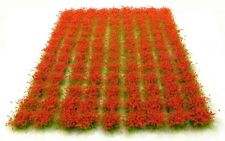 Red flowers tufts x117 tufts - Self adhesive static model scenery
