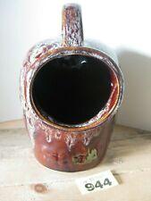 Kernewek Pottery Large Salt Pig Brown Mottled with Handle Kitchenware