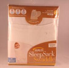 HALO SleepSack Newborn Organic Cotton Swaddle in Cream Natural TOG 1.5