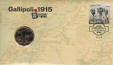 **2015 Australian Centenary of WW1 Gallipoli 50c coin PNC **