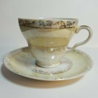 Vintage Fine Bone China England Tea Cup&Saucer Set Handcrafted in Lobeco Japan