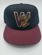 VTG Wisconsin Timber Rattlers 7 3/8 New Era 5950 Fitted Cap Hat 100% Wool USA