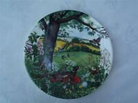 Wedgwood Meadows and Wheatfields Cabinet Plate - Colin Newmans Country Panorama