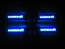 Car Door Sill Scuff Plate for Maruti Suzuki Wagonr New Model 2009+ Blue LED