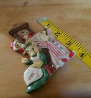Ceramic 3 Mouse or Horse Christmas Tree Ornament Vintage Decoration Decor used