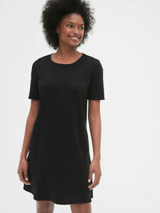 NWT GAP Maternity Black S Side Zip Dress in Ponte