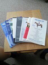 Newbury and kempton horseracing racecards 8 in number 1997 & 1998
