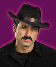 Self Adhering Black GANGSTER Mustache Costume Theme Party Accessory