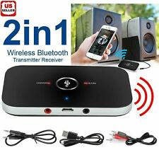 Bluetooth V4 Transmitter & Receiver Wireless A2DP Audio 3.5mm Aux Adapter Hub A6