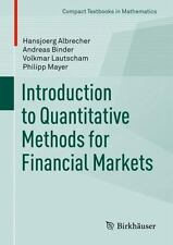 Compact Textbooks in Mathematics: Introduction to Quantitative Methods for...