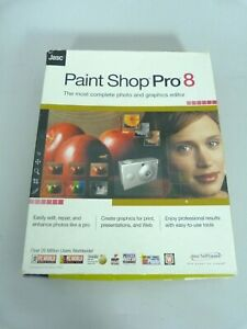 Paint Shop Pro 8 Jasc photo and graphic editor CD and manual in box