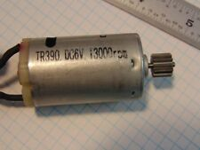 TR390 6VDC Motor, 13000 RPM, 450mA no load, stalls at approximately 2.4A