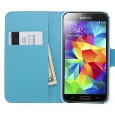 Custodie portafoglio blu per Samsung Galaxy S5