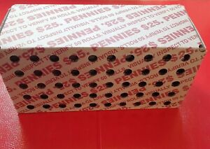 (1) Unopened Unsearched Circulated Bank Box of Pennies 50 Rolls 2500 Pennies
