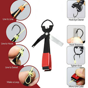 Fishing Quick Knot Tool Fast Tie Nail Knotter Line Cutter Clipper Nipper Hook