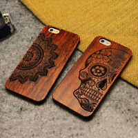 Natural  Wood Phone Case For iPhone 6 6S Plus 7 7Plus 8 8Plus X XS Max XR Wooden