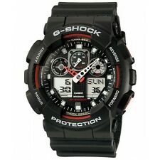 100% Original CASIO G-SHOCK GA-100-1A4 BLACK DIGITAL ANALOG