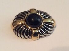 Beautiful Gold Tone and Silver Tone Brooch Pin