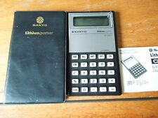 Vintage Sanyo CX-1221 Calculator with case and instructions - good working order