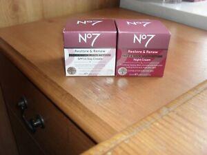 No7 Restore & Renew Face & Neck Multi Action Day & Night Cream 50ml  SPF 15 * 5