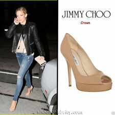"Jimmy Choo Women's 100% Leather Very High Heel (greater than 4.5"") Shoes"