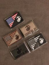 AMERICAN FLAG MARINE CORPS / USMC TACTICAL EGA PATCHES NEW (LOT OF 5)