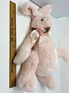 Bearington Pink Bunny Rabbit Jointed Great Gift New Plush Bow Flower SKU 092-017