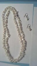 WOMENS PEARL FASHION NECKLACE EARRING SET