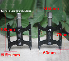 Mini Titanium Axle Ultra-light Pedals Road Mountain Bike Platform Pedal Black