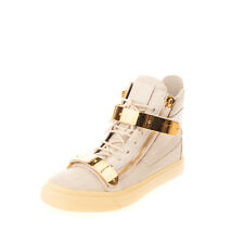 RRP€820 GIUSEPPE ZANOTTI Leather High Top Sneakers EU 40 UK 6 US 7 Made in Italy