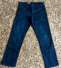 George. Mens. Dark Blue (Navy) Stretch. Straight Cut Jeans