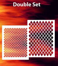 airbrush stencil Diamond Plate Double Set Templates Stencils Spray Vision