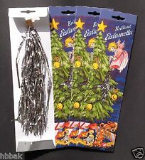 3X AUTHENTIC NIB Traditional German SILVER Lead Tinsel Icicles