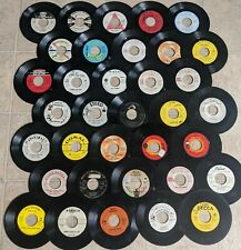 45 RPM Records - 35 Vinyl Singles 1950s & 1960s Radio Promo, DJ Copies & Jukebox