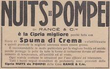 V0545 Cipria NUITS de POMPEI di Rancé - Pubblicità d'epoca - 1931 advertising