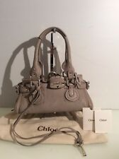 Authentic Chloe Mini Paddington. Taupe Leather. Card & Dust Bag. Ex Cond